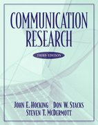 Communication Research 3rd edition 9780321088079 0321088077