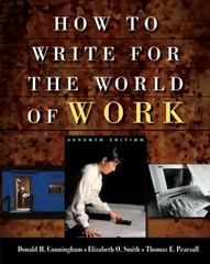 Cengage Advantage Books: How to Write for the World of Work 7th edition 9781413001945 1413001947