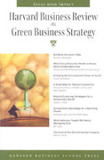 Harvard Business Review on Green Business Strategy 0 9781422121085 1422121089