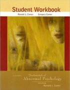 Fundamentals of Abnormal Psychology Student Workbook 5th edition 9780716773962 0716773961