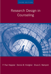 Research Design in Counseling 3rd Edition 9781111793548 1111793549