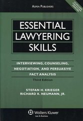 Essential Lawyering Skills 3rd edition 9780735564053 0735564051