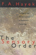 The Sensory Order 74th edition 9780226320946 0226320944