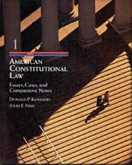 American Constitutional Law, Volume I 1st edition 9780534539375 0534539378