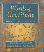 Words Of Gratitude Mind Body & Soul 0 9781890151553 1890151556