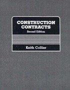 Construction Contracts 2nd edition 9780835910040 0835910040