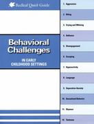 Behavioral Challenges in Early Childhood Settings 0 9781933653617 1933653612