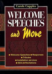 Welcome Speeches and More 0 9780687271924 0687271924