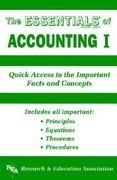Accounting I Essentials 0 9780878916672 0878916679