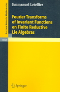 Fourier Transforms of Invariant Functions on Finite Reductive Lie Algebras 1st edition 9783540240204 3540240209