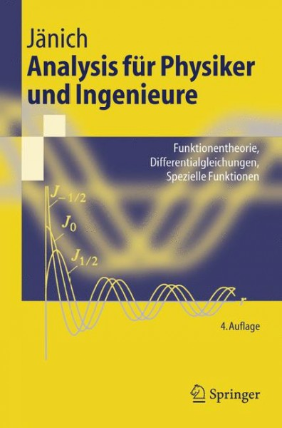 ANALYSIS FÃœR PHYSIKER UND INGENIEURE 4th edition 9783540419853 3540419853