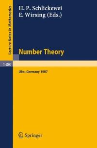 Number Theory 1st edition 9783540513971 3540513973