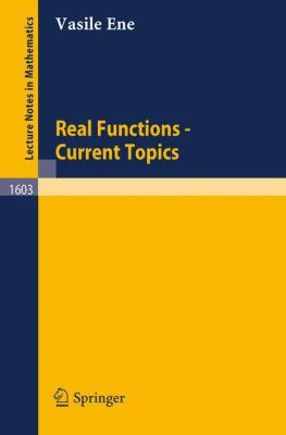 Real Functions - Current Topics 0 9783540600084 3540600086