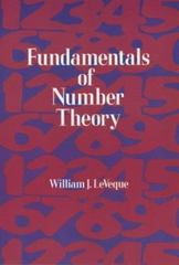 Fundamentals of Number Theory 1st Edition 9780486141503 0486141500