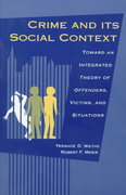 Crime and Its Social Context 0 9780791419021 0791419029