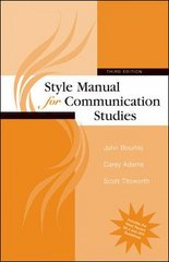 Style Manual for Communication Studies 3rd Edition 9780073385051 0073385050