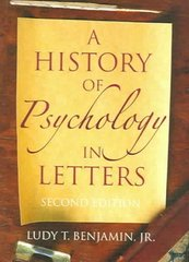 A History of Psychology in Letters 2nd Edition 9781405126120 1405126124