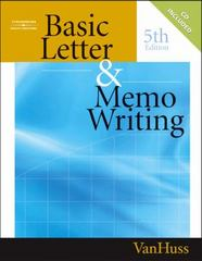 Basic Letter and Memo Writing 5th edition 9780538727839 0538727837
