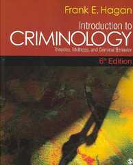 Introduction to Criminology 6th Edition 9781412953658 1412953650