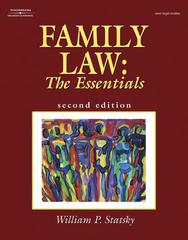 Family Law 2nd edition 9781401848279 1401848273