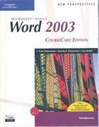 New Perspectives on Microsoft Office Word 2003, Introductory, CourseCard Edition 1st edition 9781418839109 1418839108
