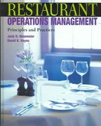 Restaurant Operations Management: Principles and Practices 1st edition 9780131100909 0131100904