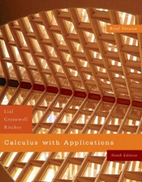 Calculus with Applications, Brief Version 9th edition 9780321422743 0321422740