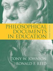 Philosophical Documents in Education 3rd edition 9780205553846 0205553842