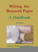 Writing the Research Paper 6th edition 9781413001785 1413001785