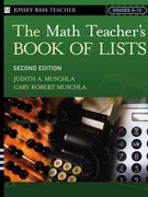 The Math Teacher's Book Of Lists 2nd Edition 9780787973988 078797398X