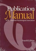 Publication Manual of the American Psychological Association 4th edition 9781557982438 1557982430