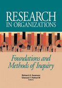 Research in Organizations 1st Edition 9781576753149 157675314X