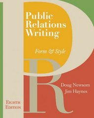 Public Relations Writing 8th Edition 9780495566762 0495566764