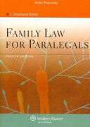 Family Law for Paralegals, Fourth Edition 4th edition 9780735563827 0735563829