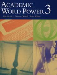 Academic Word Power 3 1st edition 9780618397709 0618397701