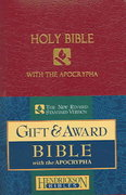 Gift and Award Bible-NRSV-Apocrypha 1st Edition 9781565637115 1565637119