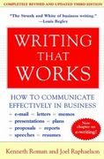 Writing That Works 3rd Edition 9780060956431 0060956437
