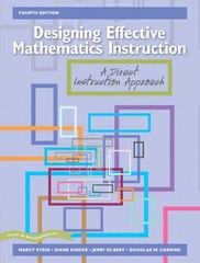 Designing Effective Mathematics Instruction 4th edition 9780131192447 0131192442
