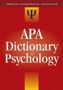 APA Dictionary of Psychology 1st edition 9781591473800 1591473802