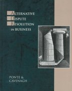 Alternative Dispute Resolution in Business 1st edition 9780324000719 0324000715