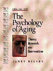 The Psychology of Aging 3rd edition 9780534359126 0534359124