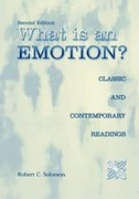 What Is an Emotion 2nd Edition 9780195159646 0195159640