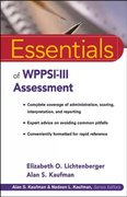 Essentials of WPPSI-III Assessment 1st edition 9780471288954 0471288950