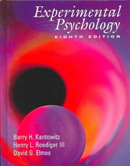 Experimental Psychology 8th edition 9780534611286 0534611281