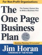 The One Page Business Plan for Non-Profit Organizations 1st Edition 9781891315022 1891315021