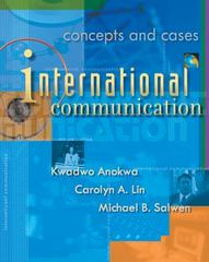 International Communication 1st Edition 9780534575199 0534575196