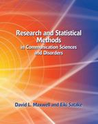 Research and Statistical Methods in Communication Sciences and Disorders 1st Edition 9781401815677 1401815677