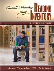 Ekwall/Shanker Reading Inventory 5th Edition 9780205388530 0205388531
