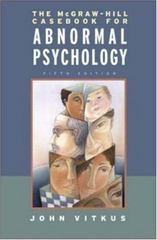 The McGraw-Hill Casebook in Abnormal Psychology 5th edition 9780072951868 0072951869
