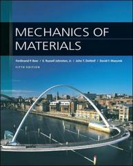 Mechanics of Materials 5th Edition 9780077221409 0077221400